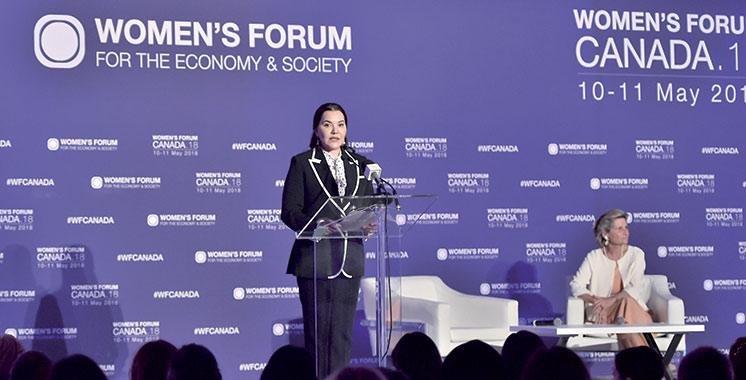 Women's Forum à Toronto : SAR la Princesse Lalla Hasnaa rend hommage aux femmes des pays du Sud