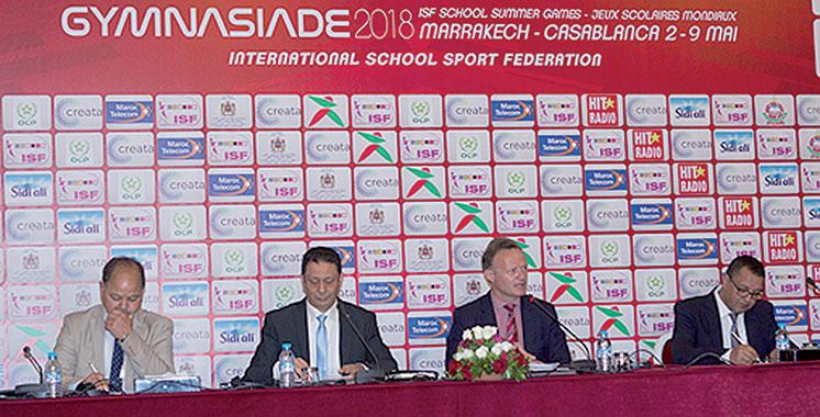 Sport scolaire : Le président de l'ISF salue la bonne organisation  de la Gymnasiade 2018