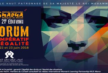 En marge du 21ème Festival Gnaoua et musiques du monde d'Essaouira : Le forum des droits de l'Homme débat de l'égalité et de la parité