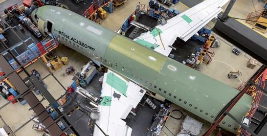 Le premier ACJ320 neo entre dans  la phase d'assemblage final