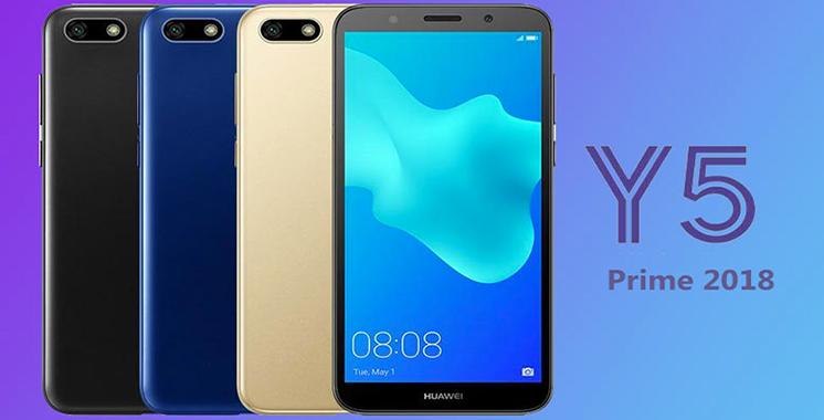 Huawei : Le Y5 Prime 2018 enrichit la gamme Y