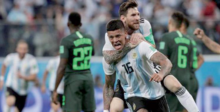 Difficilement qualifiée aux huitièmes de finale de la Coupe du monde: L'Argentine, de la souffrance à la délivrance