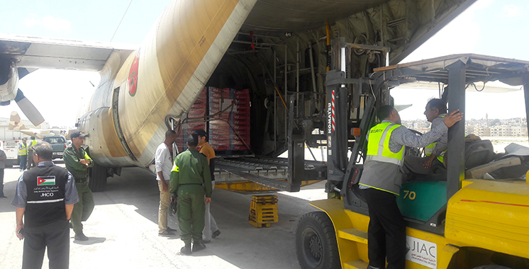 Arrivée en Jordanie du premier lot de l'aide humanitaire marocaine au profit du peuple palestinien