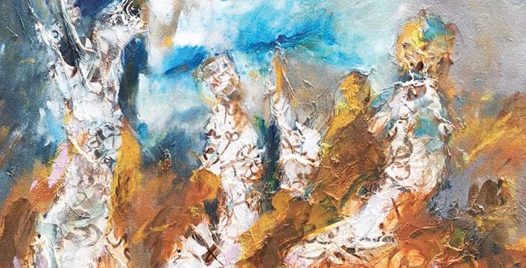 Vernissage de l'exposition «Retrouvailles  de Mohamed Mekouar» à Rabat