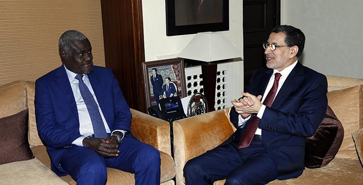 Le président de la Commission de l'UA salue l'adhésion totale du Maroc aux différents projets de l'Union