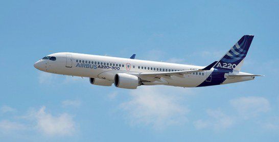 Aérien : Airbus présente les A220-100 et A220-300