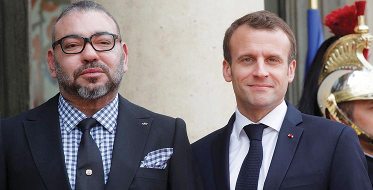 A l'occasion de la victoire de la France en finale de la Coupe du monde : SM le Roi félicite le président Macron