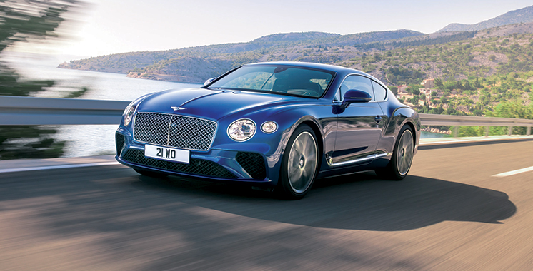 Disponible au showroom de Casablanca : Continental GT, le nouveau joyau de Bentley