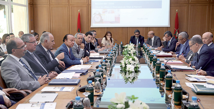 A l'occasion d'une première réunion au sujet de l'Observatoire : Délais de paiement, la première bataille de Mezouar