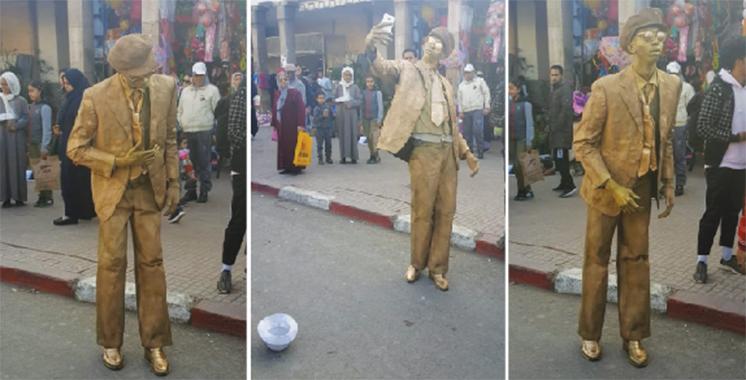 Art de la rue : Un artiste automate immobilise les R'batis