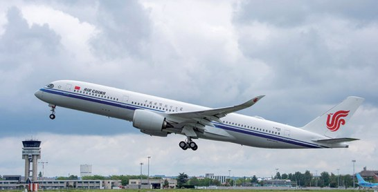 Airbus : le A350-900 livré à Air China