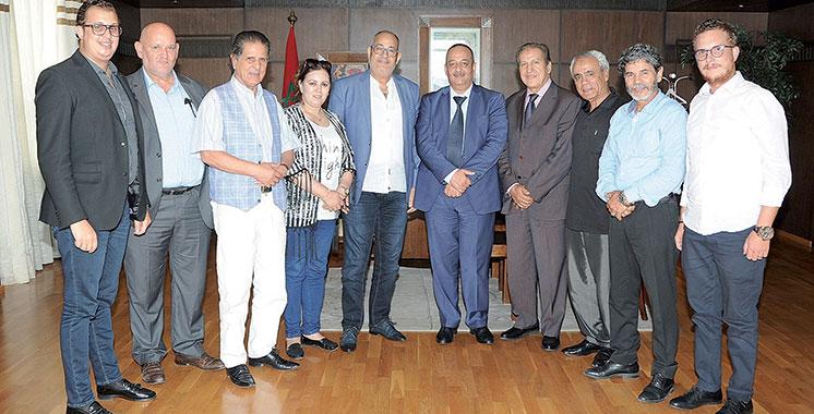 Droits des artistes :  Laaraj a rencontré deux syndicats