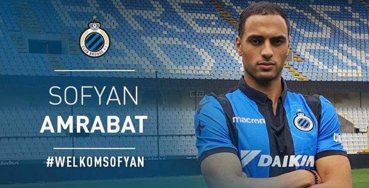 Sofyan Amrabat quitte Feyenoord pour le club Bruges