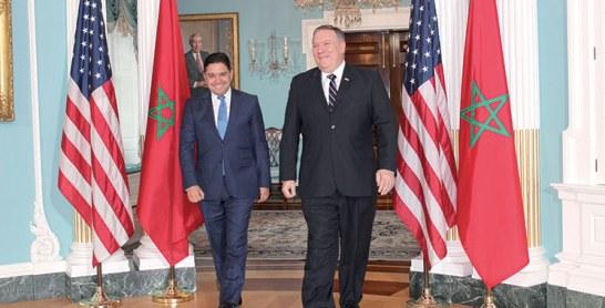 Maroc-USA : Bourita rencontre Bolton et Pompeo