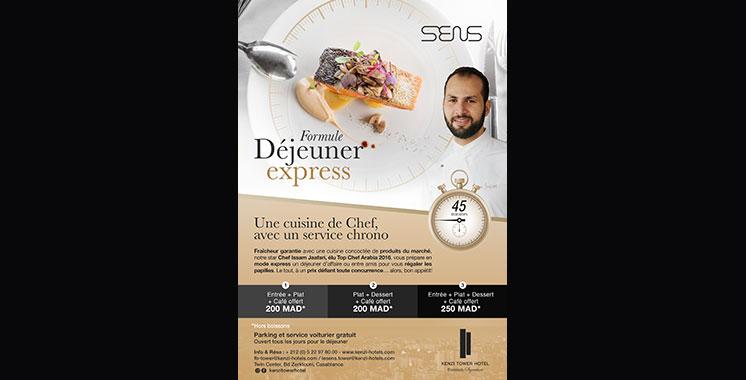 Déjeuner Express/60 minutes au Kenzi Tower Hotel