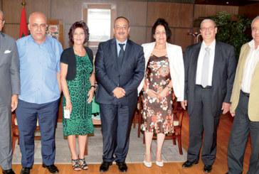 Mohamed Laâraj reçoit une délégation de la FMEJ