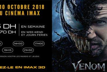 Projection du film «Venom» à l'Imax Morocco Mall à partir du 10 octobre
