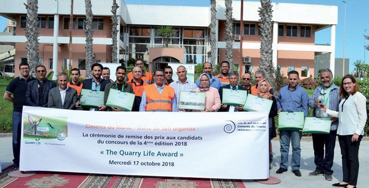 Concours Quarry Life Award : Ciments du Maroc célèbre la biodiversité