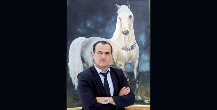 11ème Salon du cheval d'El Jadida : Des chevaux au pastel, une particularité de Rachid Benabdellah