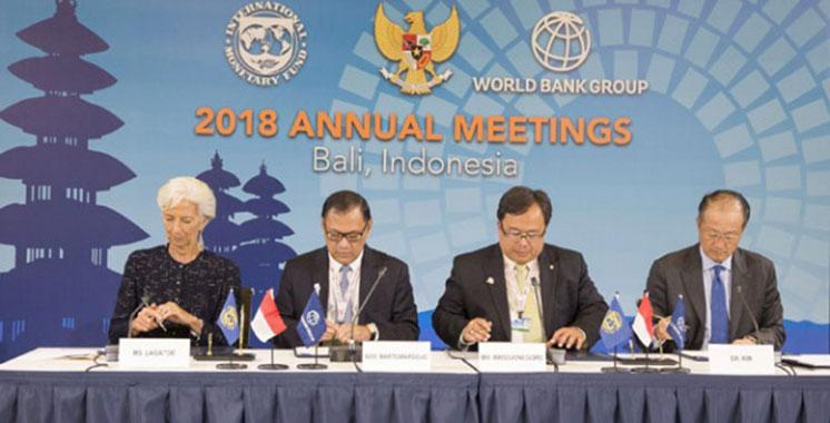 Le Maroc présent aux assemblées annuelles de la BM et FMI à Bali