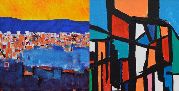 Les œuvres de Hicham El Mansour à la galerie Dar D'Art de Tanger