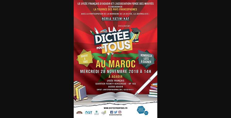 «La Dictée pour Tous» fait escale à Agadir