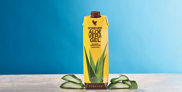 Le Gel d'Aloe Vera de Forever se glisse dans une nouvelle peau