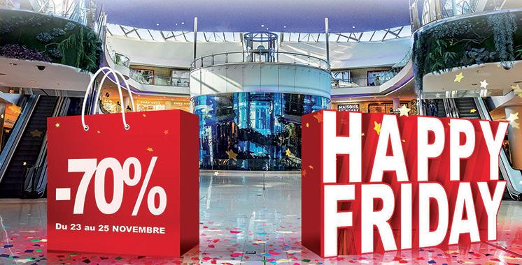 Avec des réductions allant jusqu'à -70% : Le Happy Friday fête son grand retour au Morocco Mall