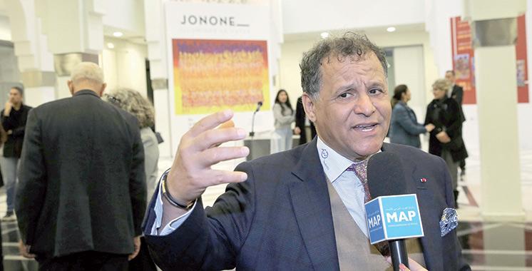 Vernissage à Rabat de l'exposition «Illuminer le futur» de l'artiste-peintre américain JonOne