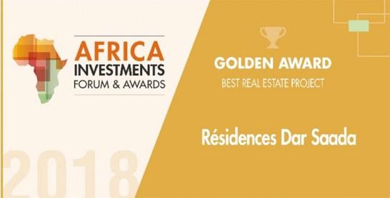 Résidences Dar Saada reçoit le Trophée d'Or du meilleur projet immobilier en Afrique