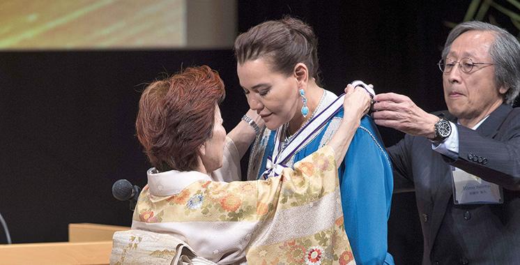 SAR la Princesse Lalla Hasnaa  reçoit à Tokyo le Prix international GOI Peace 2018