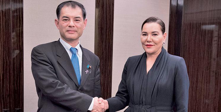 SAR la Princesse Lalla Hasnaa reçoit à Tokyo le ministre japonais de l'éducation