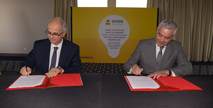 Efficacité énergétique : Barid Al-Maghrib et l'AMEE renforcent leur coopération