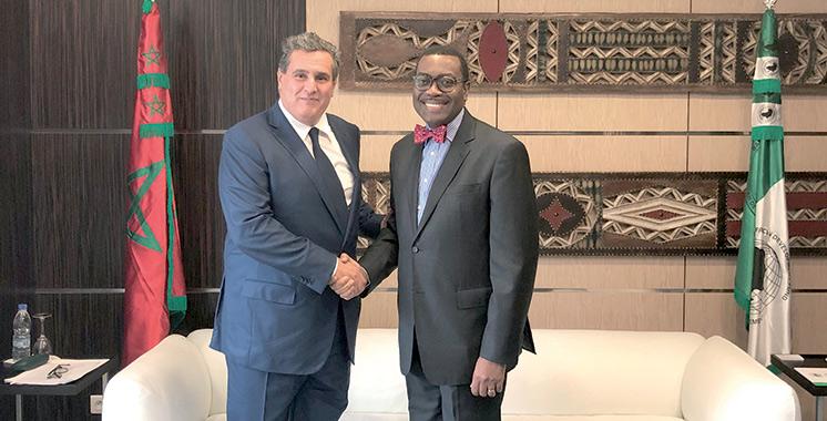 Akhannouch s'entretient à Abidjan avec le président de la BAD