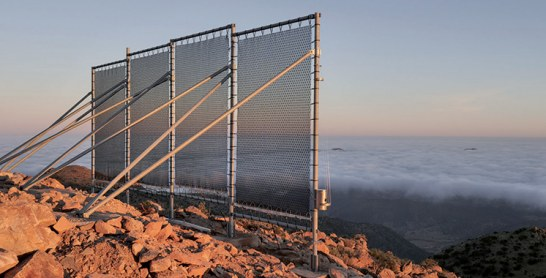 Le moissonnage du brouillard pour faire face à la pénurie d'eau