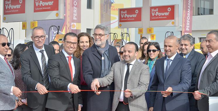 Conçue par Vivo Energy Maroc : Une station-service Shell  perchée au «Parc Bouskoura»