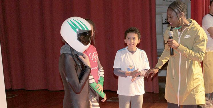 Master Class sur le sport : Simidele Adeagbo inspire les jeunes de Casablanca