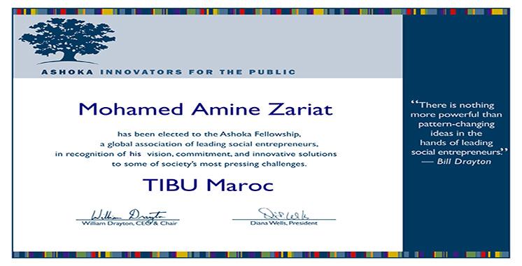 Amine Zariat élu membre  du réseau international  des innovateurs Ashoka