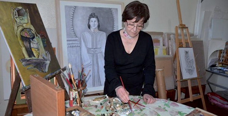 Elle expose à la Galerie Bab Rouah de Rabat  : Quand Chams Eddoha Ataa-Allah raconte sa vie en peinture