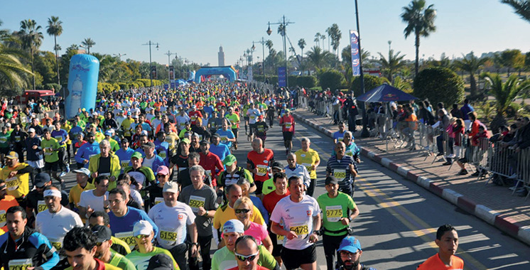 30ème édition du Marathon international de Marrakech : Plus de 9.000 coureurs sur la ligne de départ
