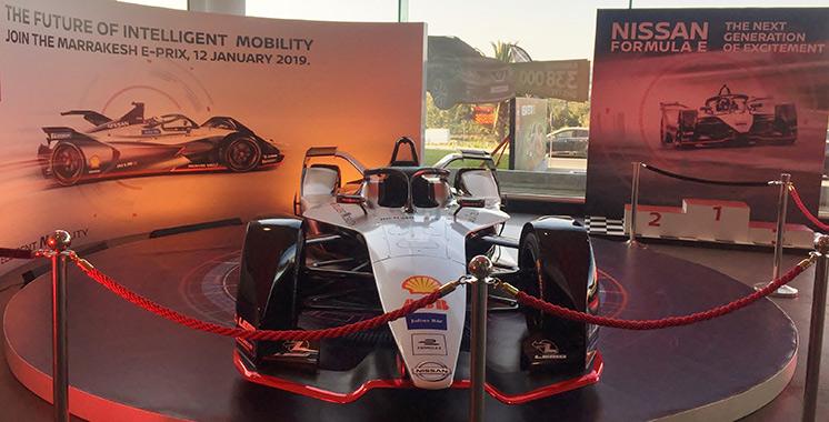 Formule E : La voiture de compétition officielle de Nissan est enfin arrivée au Maroc