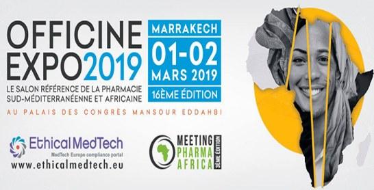 La 16ème édition d'Officine Expo  les 1er et 2 mars à Marrakech