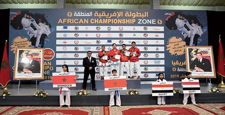 Championnat d'Afrique de karaté : La sélection marocaine occupe la 2è place avec 43 médailles