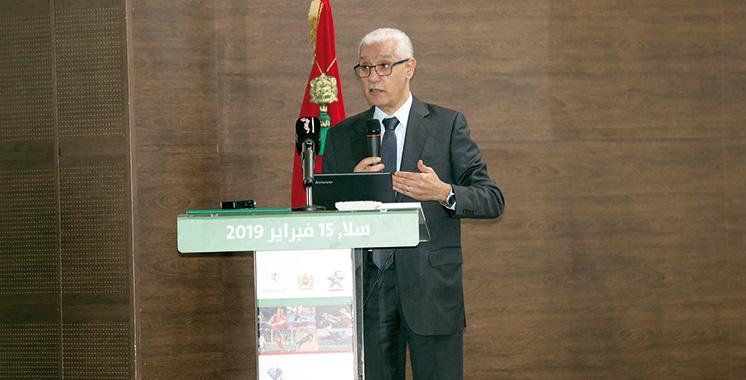 Rachid Talbi Alami lors d'une journée d'étude à Salé : «La formation, axe fondamental  de la stratégie nationale du sport»
