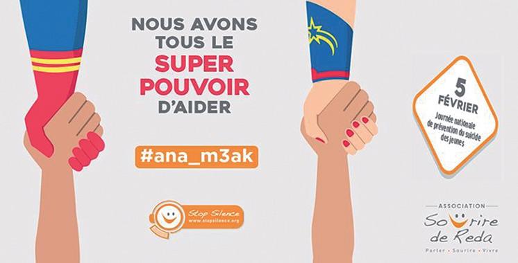 «#ana_m3ak» : L'association Sourire de Reda se mobilise contre le suicide des jeunes