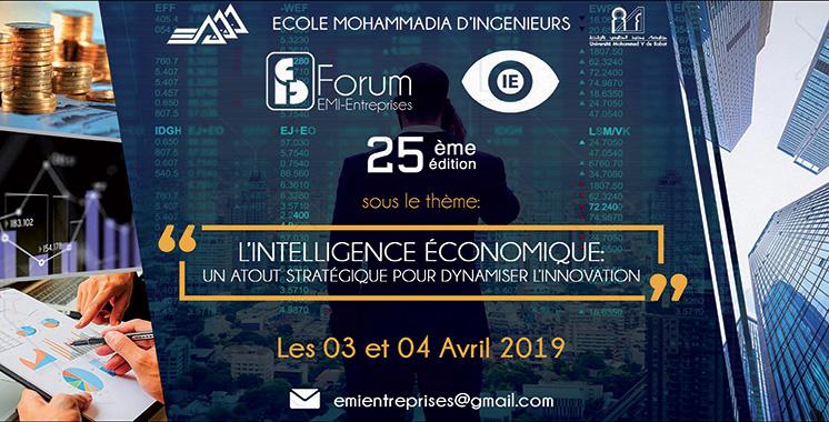 Forum EMI-Entreprises : La 25ème édition se tiendra les 3 et 4 avril