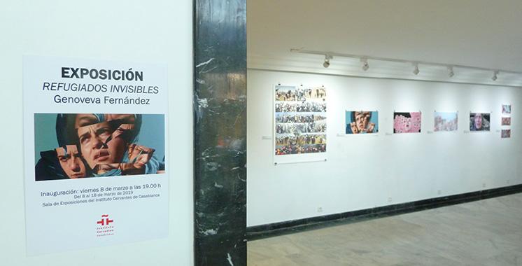 «Réfugiés invisibles» de Genoveva Fernández à l'Institut Cervantès de Casablanca