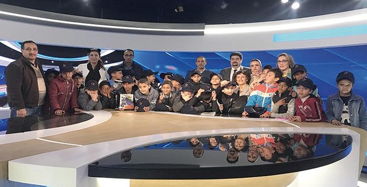 Les élèves de la Fondation Lalla Asmaa à la SNRT