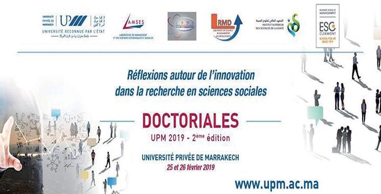Initiées par l'université privée de Marrakech : Les Doctoriales 2019 focalisent sur l'innovation