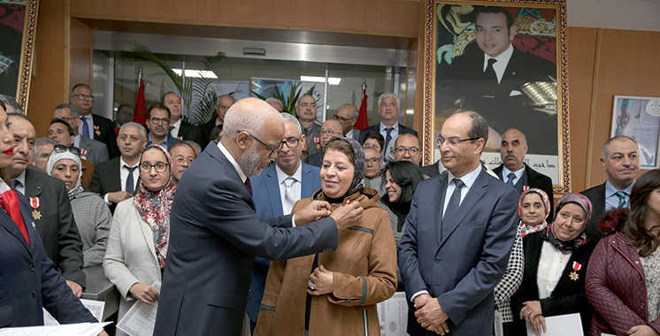 Casablanca : Remise de Wissams  royaux à des salariés du secteur privé
